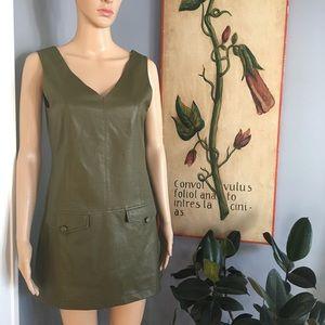 🔥 Double Zero faux leather dress